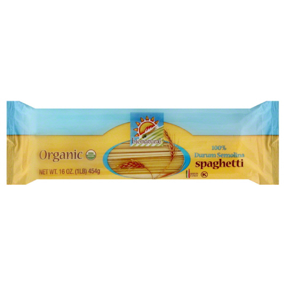 Bionaturae Spaghetti, 16 Oz (Pack of 12)