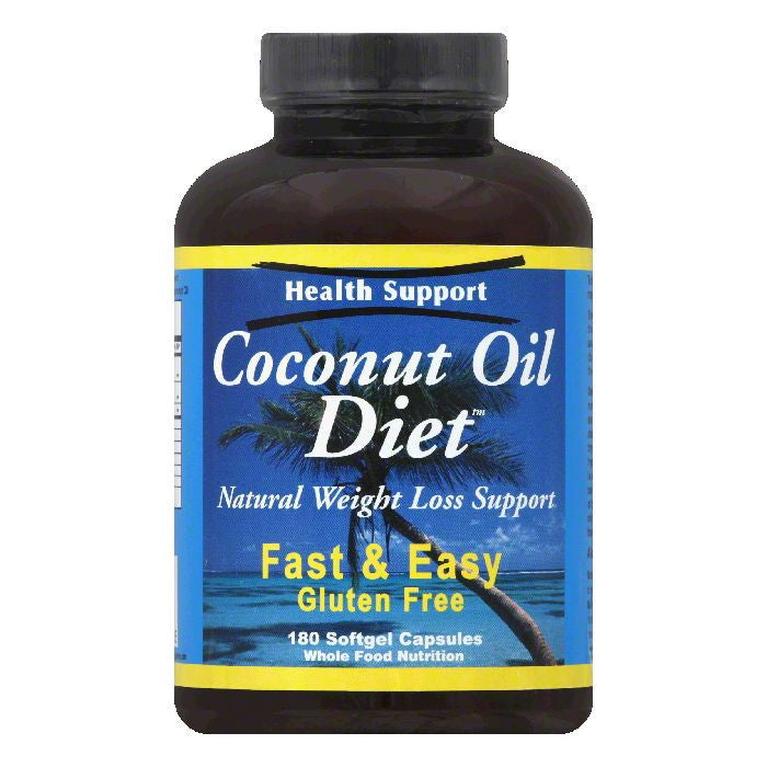 Health Support Capsules Coconut Oil Diet, 180 SG