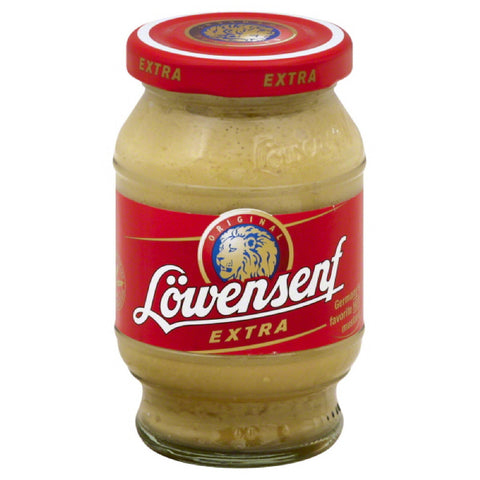 Lowensenf Extra Hot Prepared Mustard, 9.3 Oz (Pack of 6)