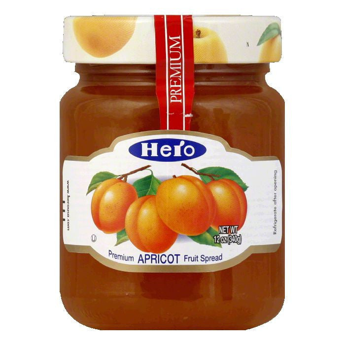 Hero Apricot Preserves, 12 OZ (Pack of 8)