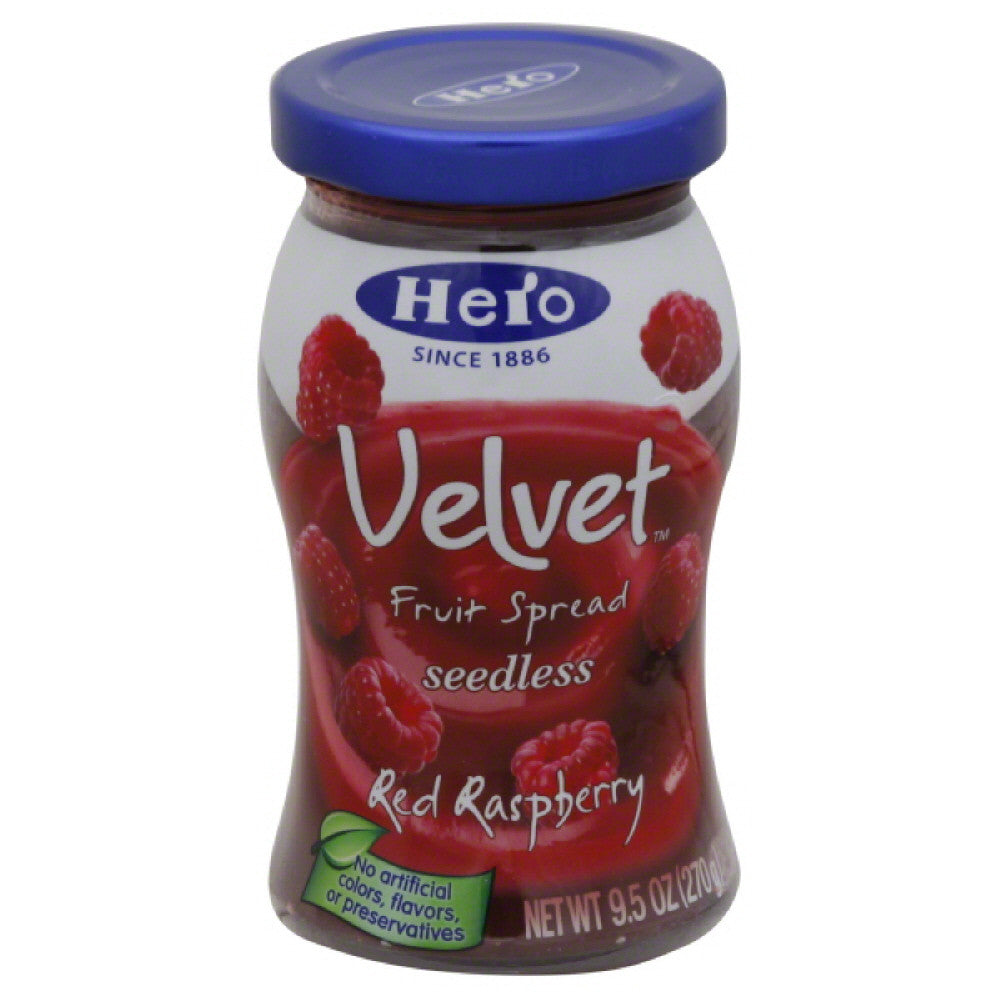 Hero Red Raspberry Seedless Fruit Spread, 9.5 Oz (Pack of 8)