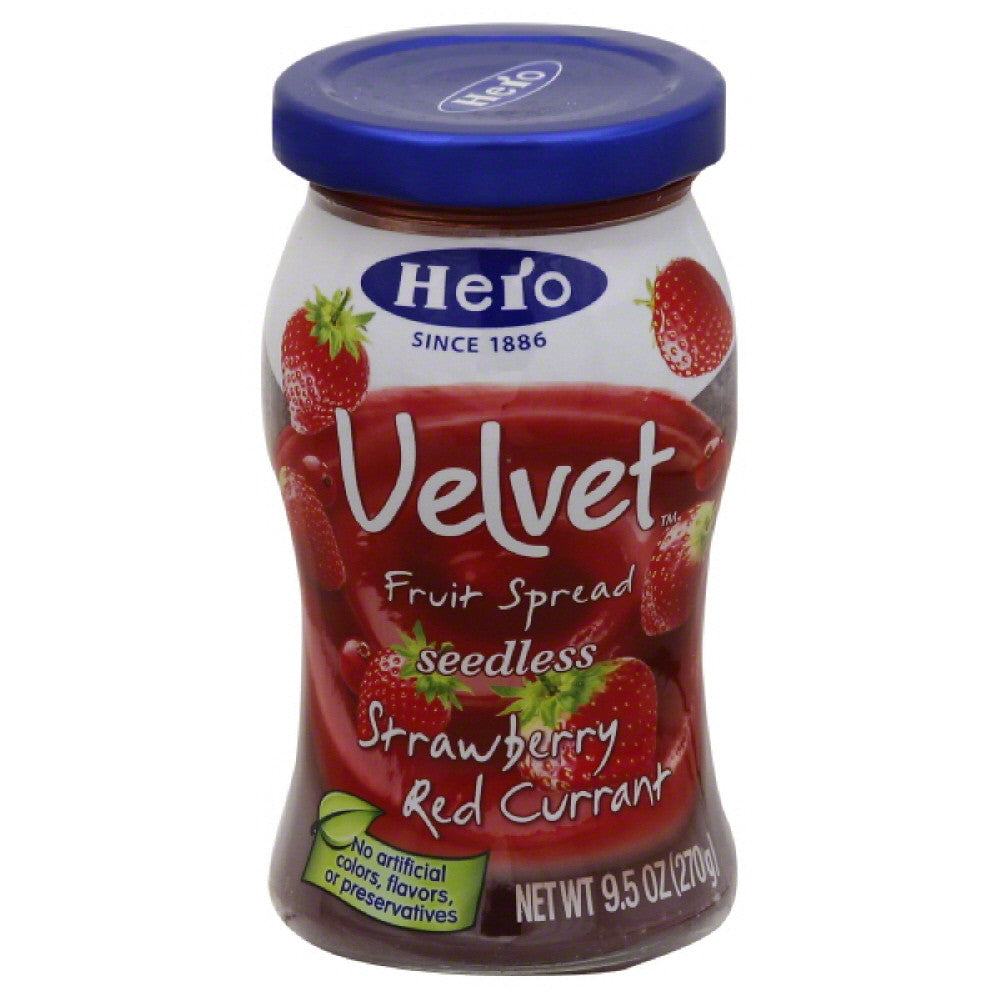 Hero Strawberry Red Currant Seedless Fruit Spread, 9.5 Oz (Pack of 8)