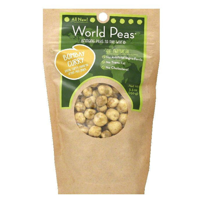 World Peas Bombay Curry Green Pea Snack, 5.3 OZ (Pack of 6)