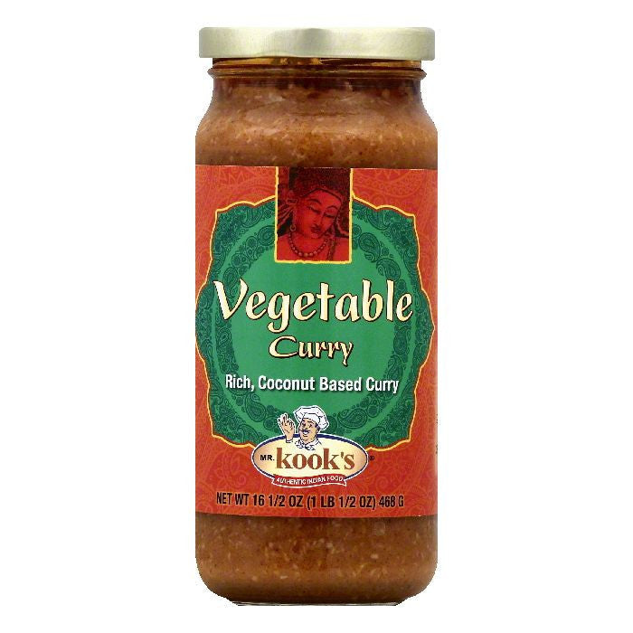 Mr Kooks Vegetable Curry, 16.5 OZ (Pack of 6)