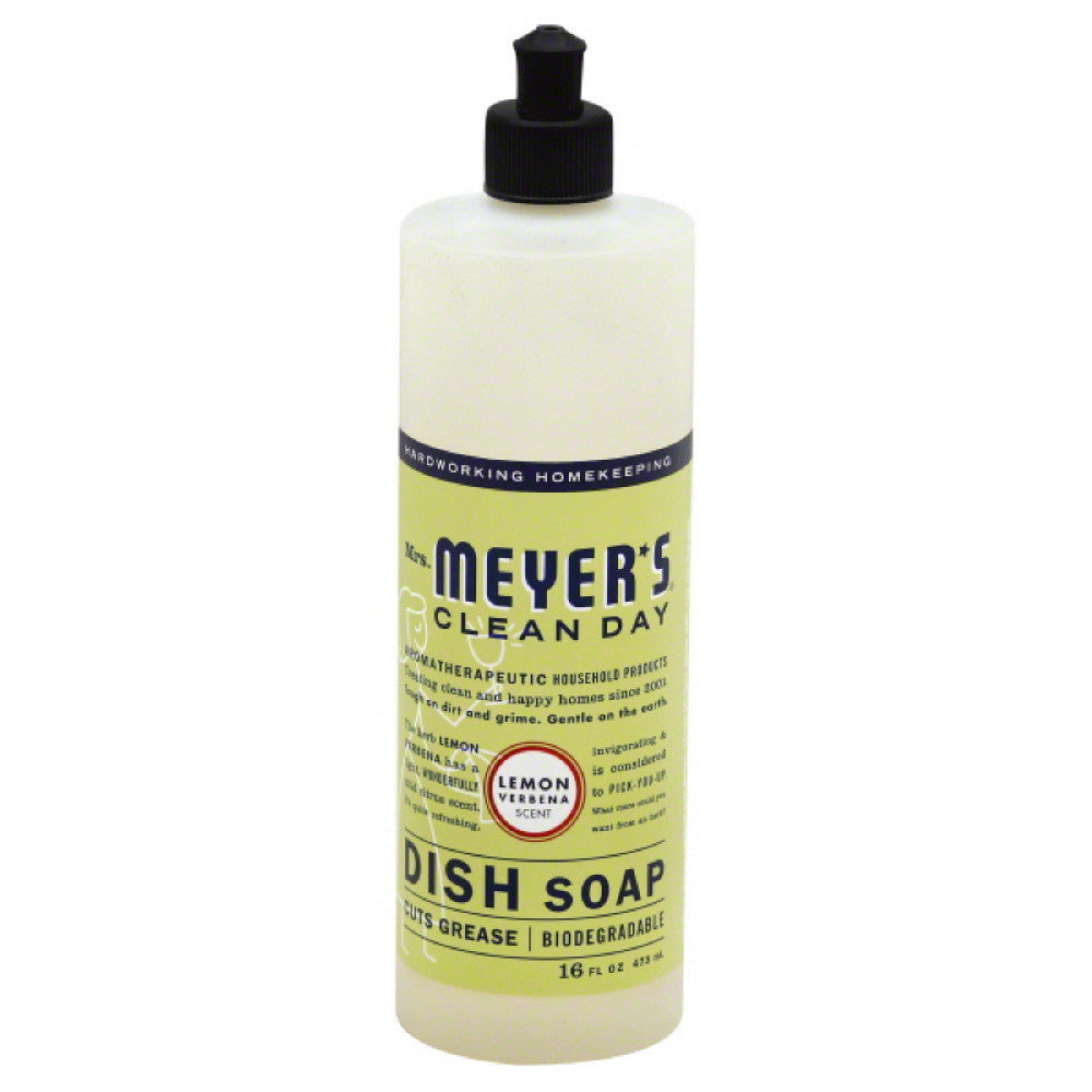 Mrs Meyers Lemon Verbena Scent Dish Soap, 16 Oz (Pack of 6)