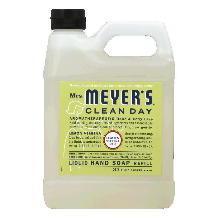 Mrs. Meyers Soap Refil Liquid Lemon, 33 OZ