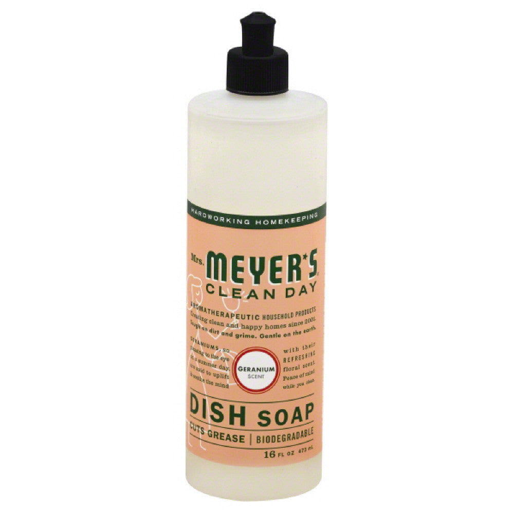 Mrs Meyers Geranium Scent Dish Soap, 16 Oz (Pack of 6)