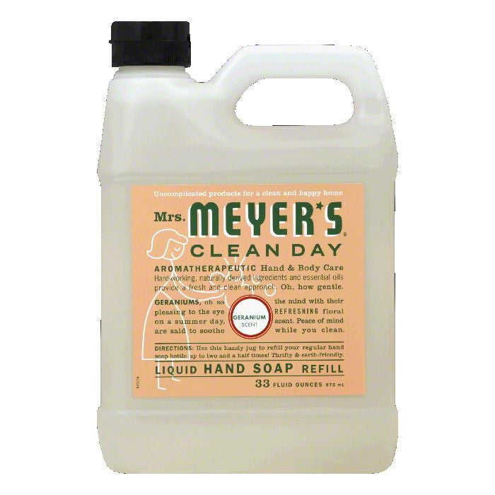 Mrs. Meyers Soap Refil Liquid Geranium, 33 OZ