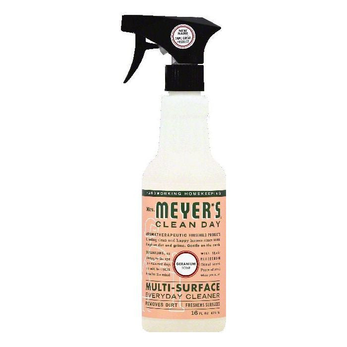 Mrs Meyers Geranium Scent Multi-Surface Everyday Cleaner, 16 OZ (Pack of 6)
