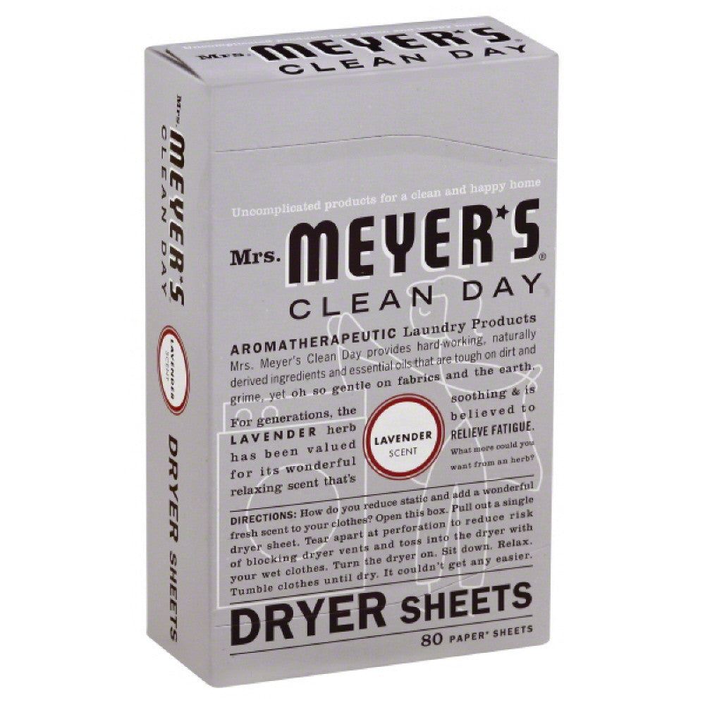Mrs Meyers Lavender Scent Dryer Sheets, 80 Pc