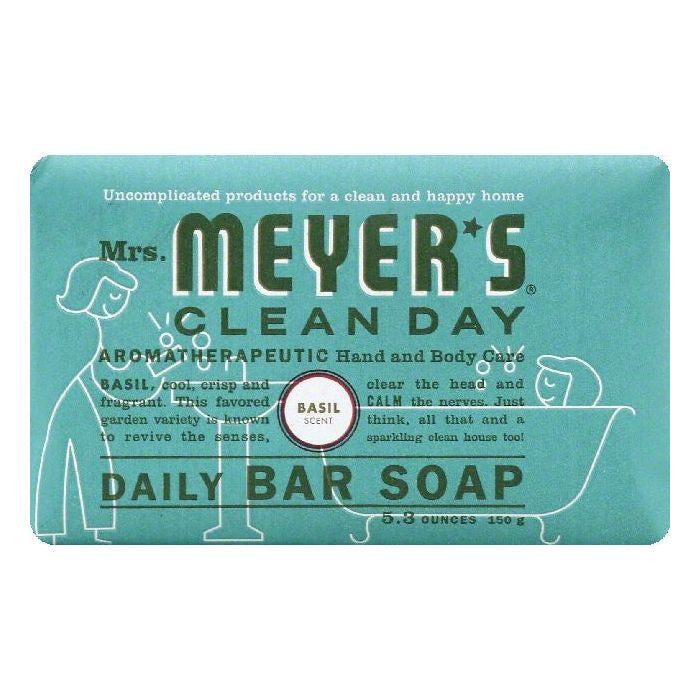 Mrs Meyers Basil Scent Daily Bar Soap, 5.3 OZ