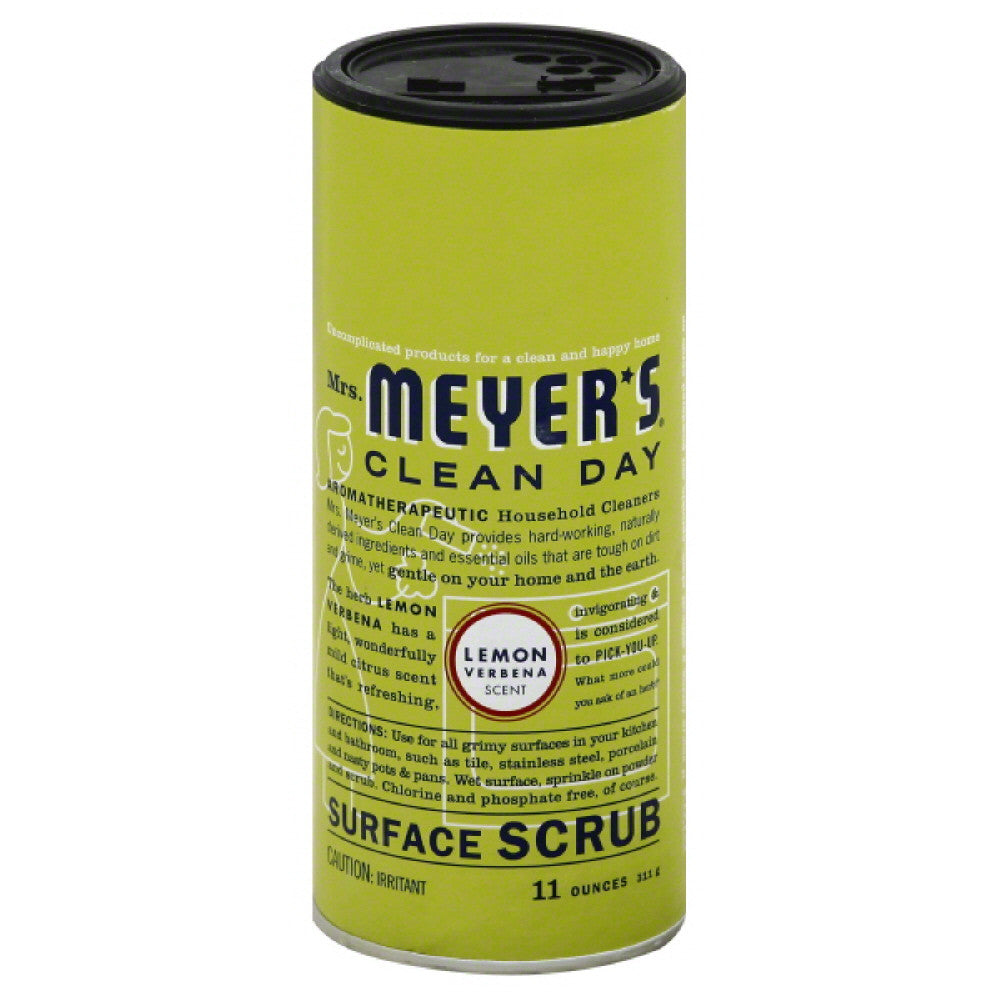 Mrs Meyers Lemon Verbena Scent Surface Scrub, 11 Oz (Pack of 6)