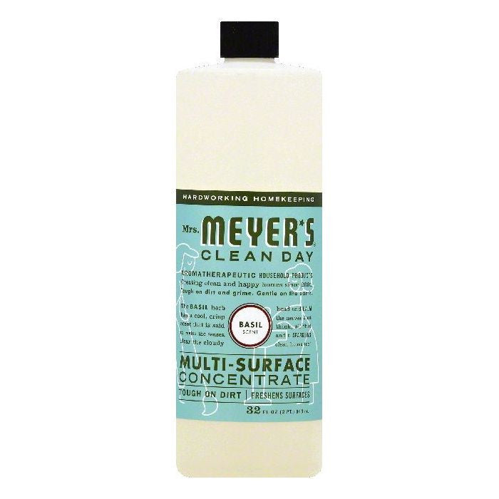 Mrs Meyers Basil Scent Multi-Surface Concentrate, 32 OZ (Pack of 6)