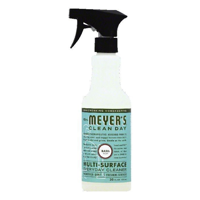 Mrs Meyers Basil Scent Multi-Surface Everyday Cleaner, 16 OZ (Pack of 6)
