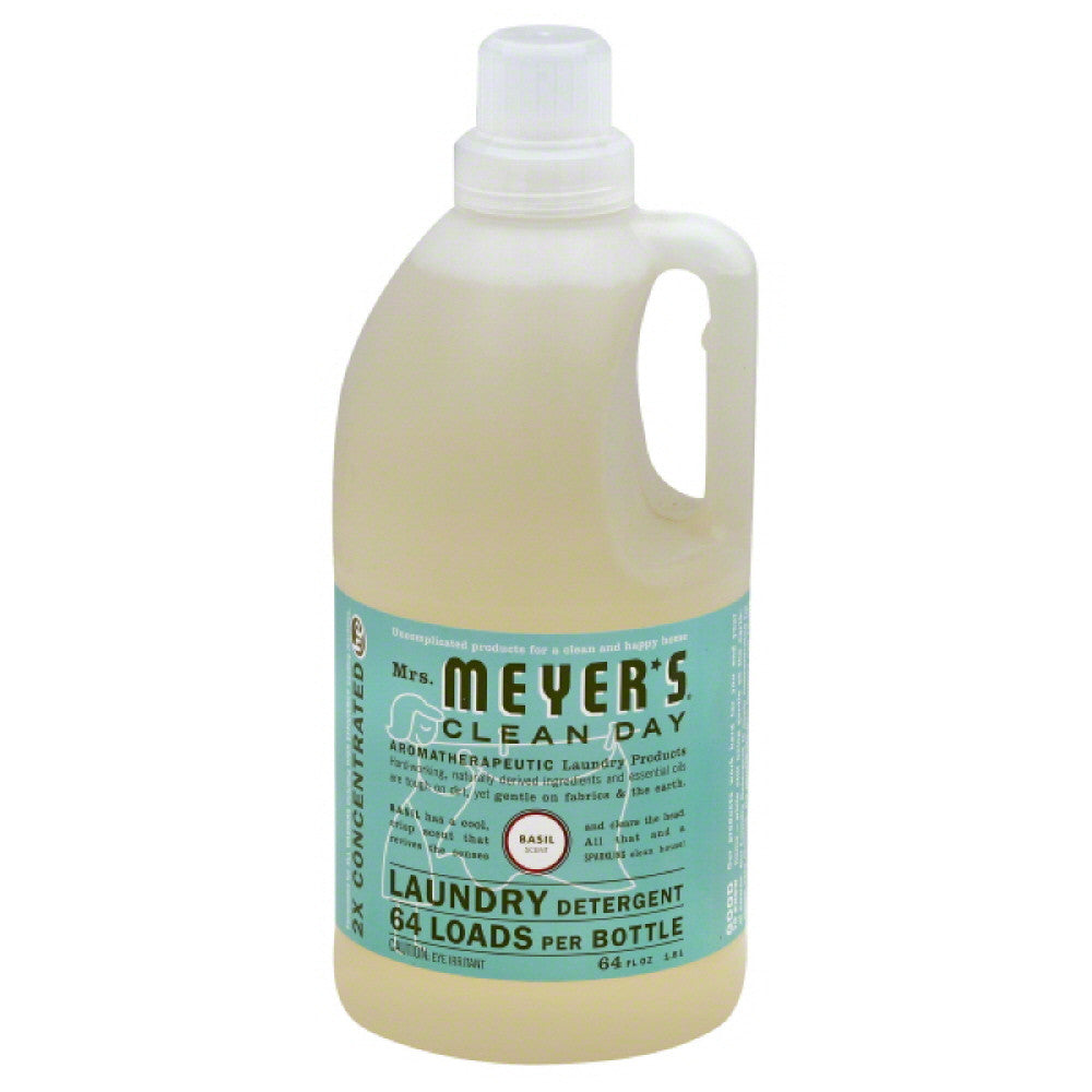 Mrs Meyers Basil Scent Laundry Detergent, 64 Oz (Pack of 6)