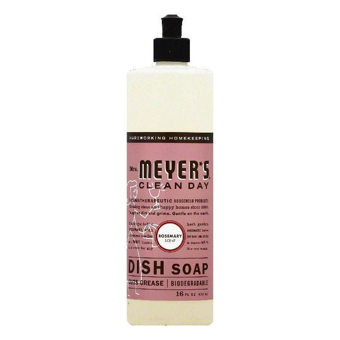 Mrs Meyers Rosemary Scent Dish Soap, 16 OZ (Pack of 6)