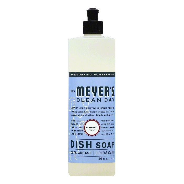 Mrs Meyers Bluebell Scent Dish Soap, 16 OZ (Pack of 6)