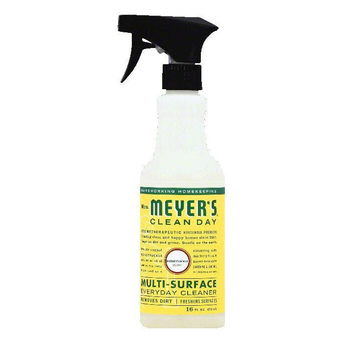 Mrs Meyers Honeysuckle Scent Multi-Surface Everyday Cleaner, 16 OZ (Pack of 6)