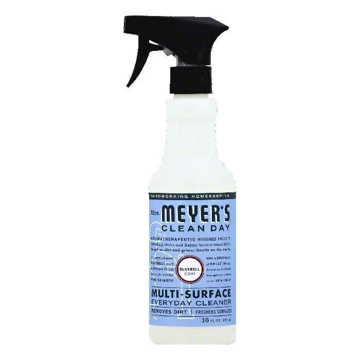 Mrs Meyers Bluebell Scent Multi-Surface Everyday Cleaner, 16 OZ (Pack of 6)