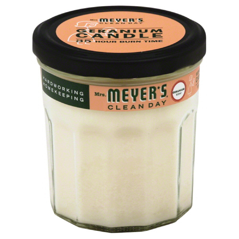 Mrs Meyers Geranium Scent Soy Candle, 7.2 Oz (Pack of 6)