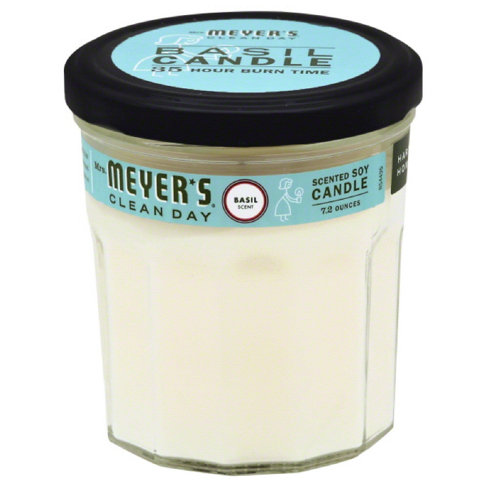 Mrs Meyers Basil Scent Scented Soy Candle, 7.2 Oz (Pack of 6)