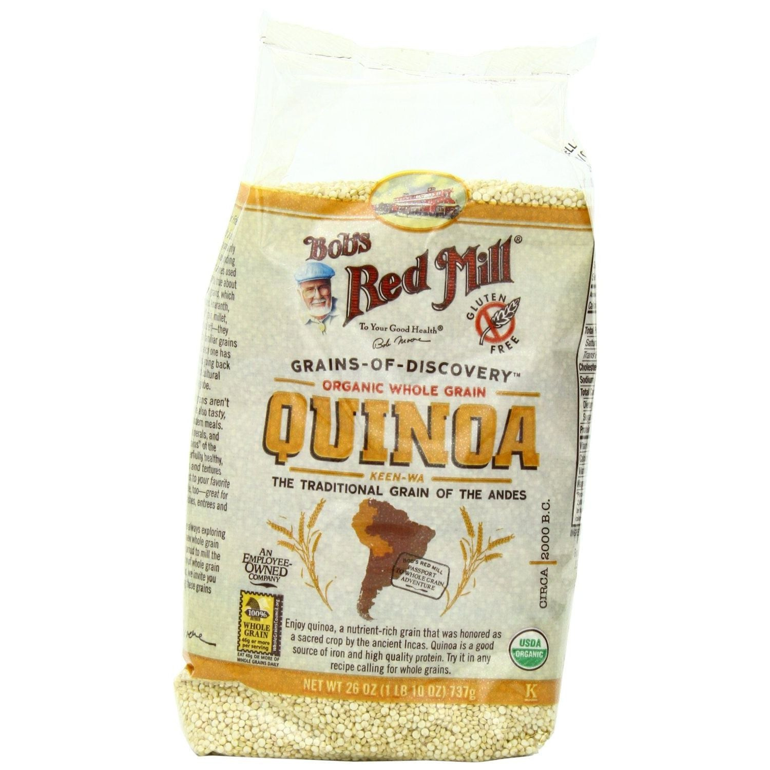 Bob's Red Mill Organic Grain Quinoa, 26-Ounce Packages (Pack of 4)