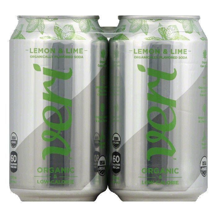 Veri Lemon & Lime Soda, 48 Oz (Pack of 3)