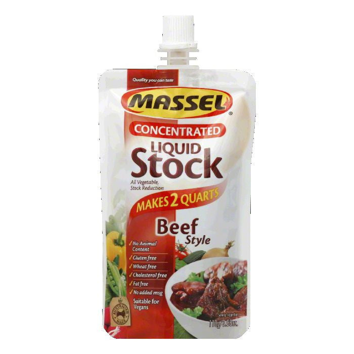 Massel Concentrated Beef Style Liquid Stock, 3.88 FO (Pack of 6)