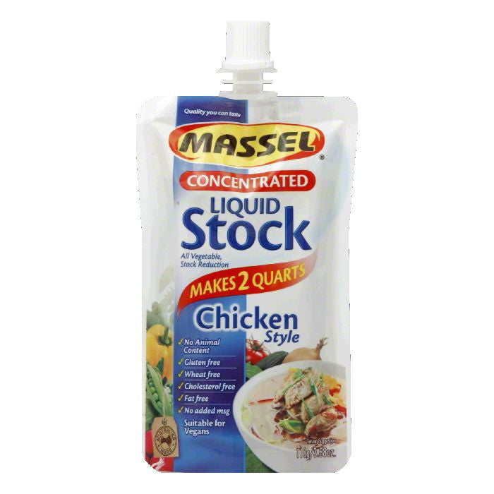 Massel Concentrated Chicken Style Liquid Stock, 3.88 FO (Pack of 6)
