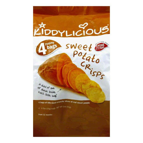 Kiddylicious Sweet Potato Crisps, 2 Oz (Pack of 4)