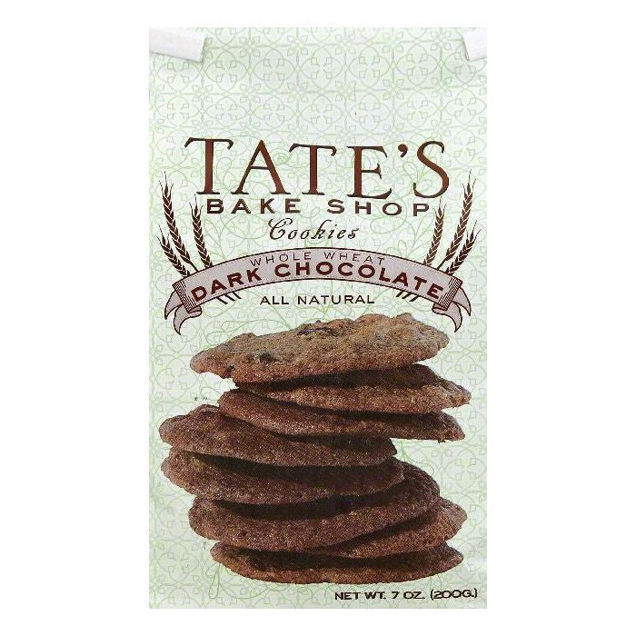 Tates Bake Shop Dark Chocolate Whole Wheat Cookies, 7 OZ  ( Pack of  6)