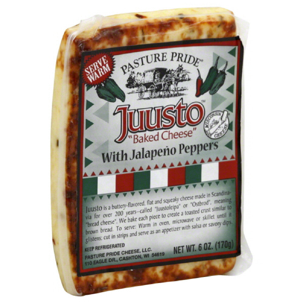 Pasture Pride Baked Cheese with Jalapeno Peppers, 6 Oz (Pack of 10)