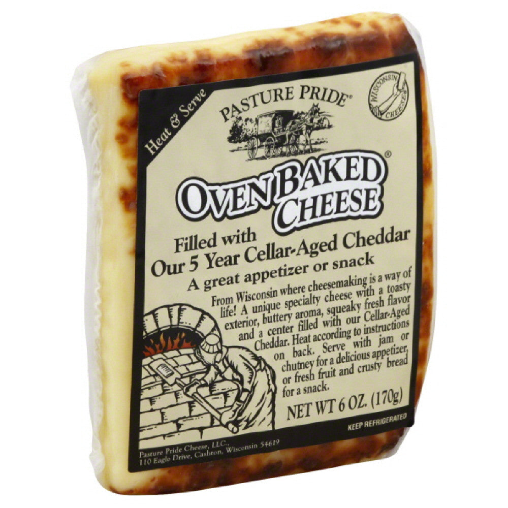 Pasture Pride Filled with Aged Cheddar Oven Baked Cheese, 6 Oz (Pack of 10)