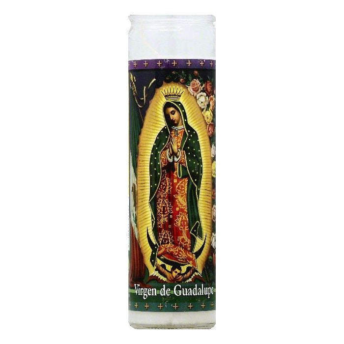 St Jude Candle Virgen de Guadalupe 8 inch Candle, 1 ea (Pack of 12)