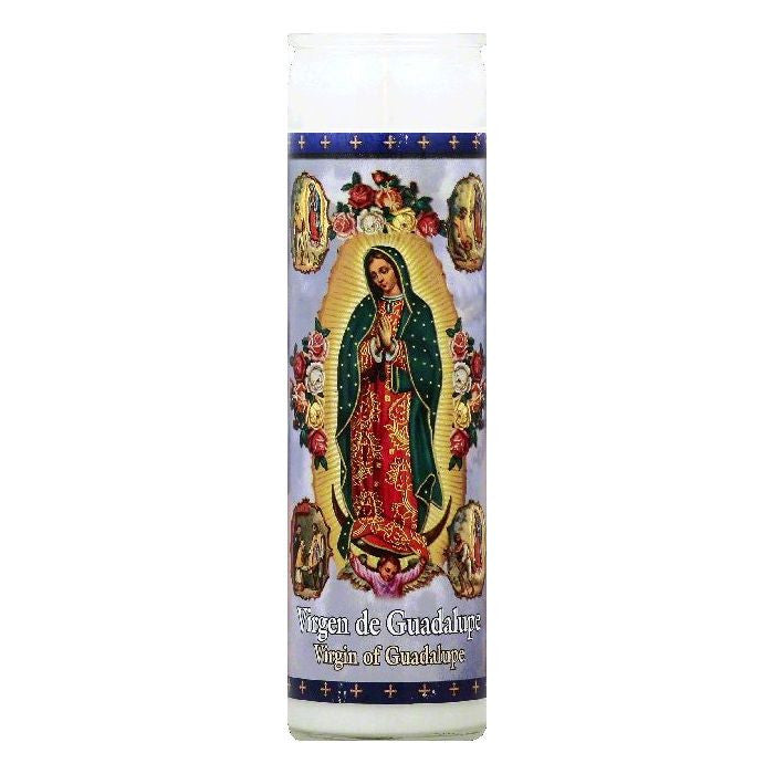 St Jude Candle 8.2 In Virgin of Guadalupe Candle, 1 ea (Pack of 12)
