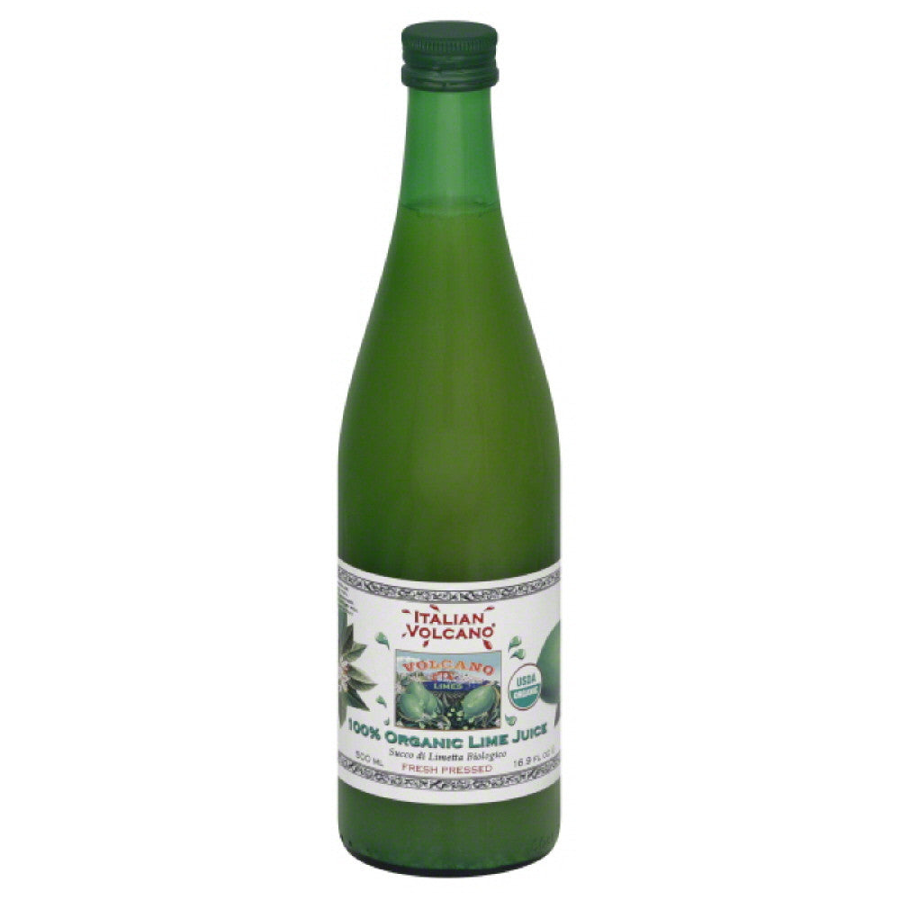 Italian Volcano 100% Organic Lime Juice, 500 Ml (Pack of 12)