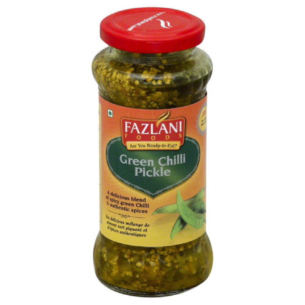 Fazlani Foods Hot Chilli Green Chilli Pickle, 300 Gr  ( Pack of  6)