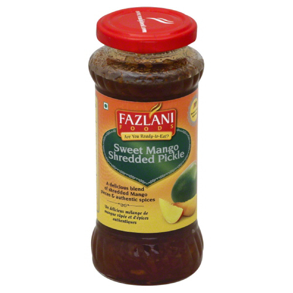 Fazlani Foods Sweet & Sour Sweet Mango Shredded Pickle, 350 Gr  ( Pack of  6)