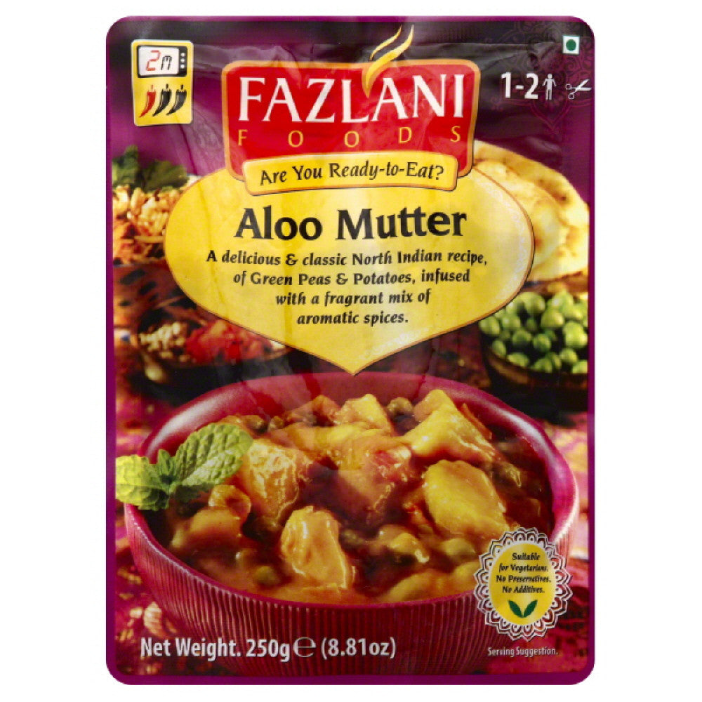 Fazlani Foods Aloo Mutter, 8.81 Oz  ( Pack of  12)