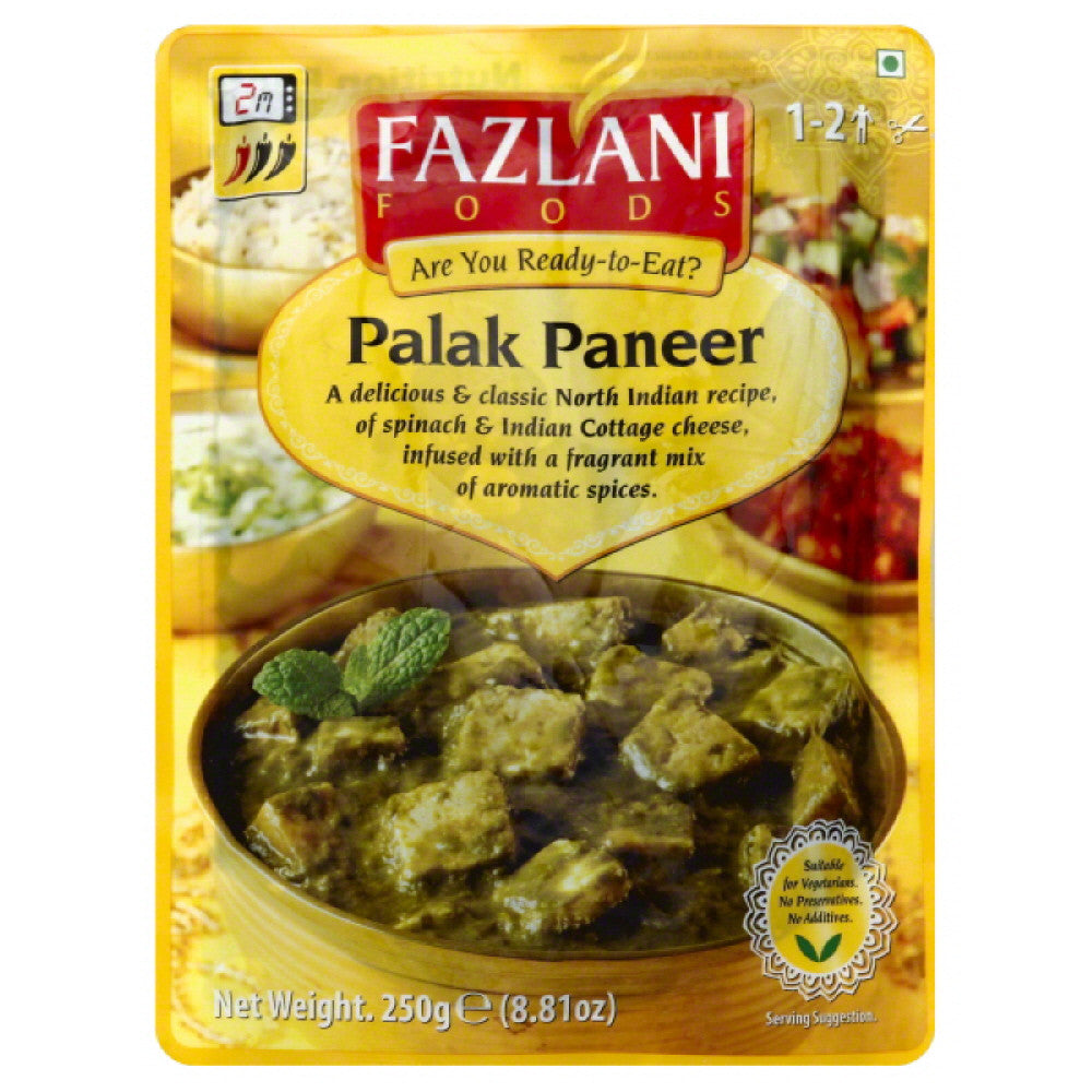 Fazlani Foods Palak Paneer, 8.81 Oz  ( Pack of  12)