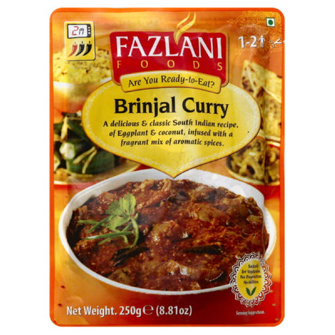 Fazlani Foods Brinjal Curry, 8.81 Oz  ( Pack of  12)