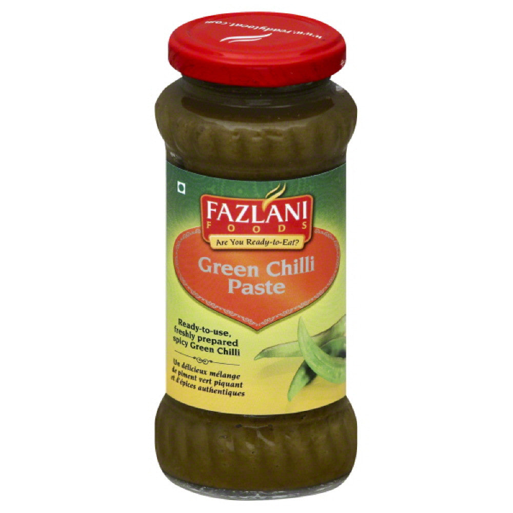 Fazlani Foods Green Chilli Paste, 300 Gr (Pack of 6)