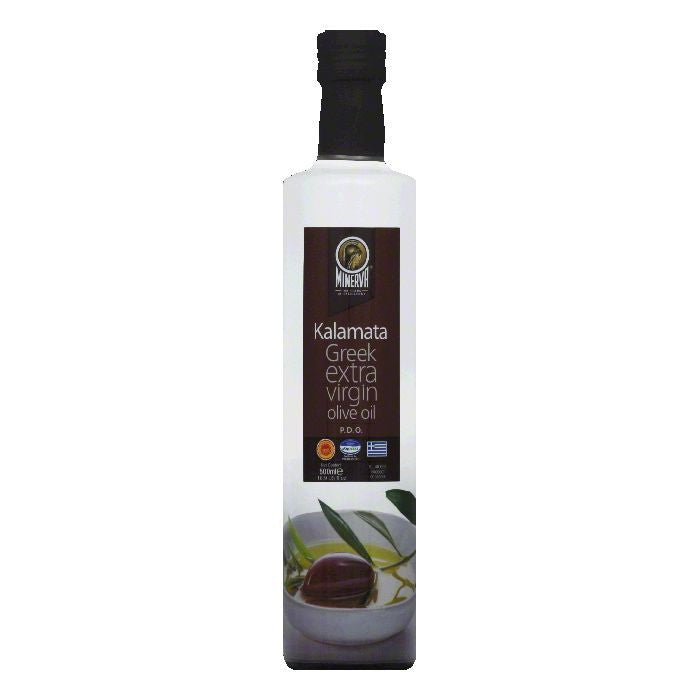 Minerva Greek Kalamata Extra Virgin Olive Oil, 16.9 FO (Pack of 6)