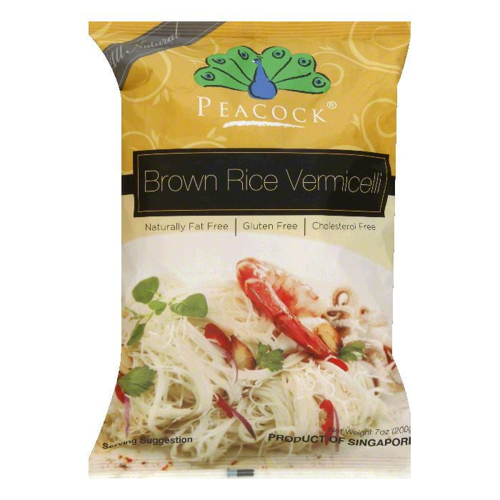 Peacock Brown Rice Vermicelli, 7 Oz (Pack of 6)