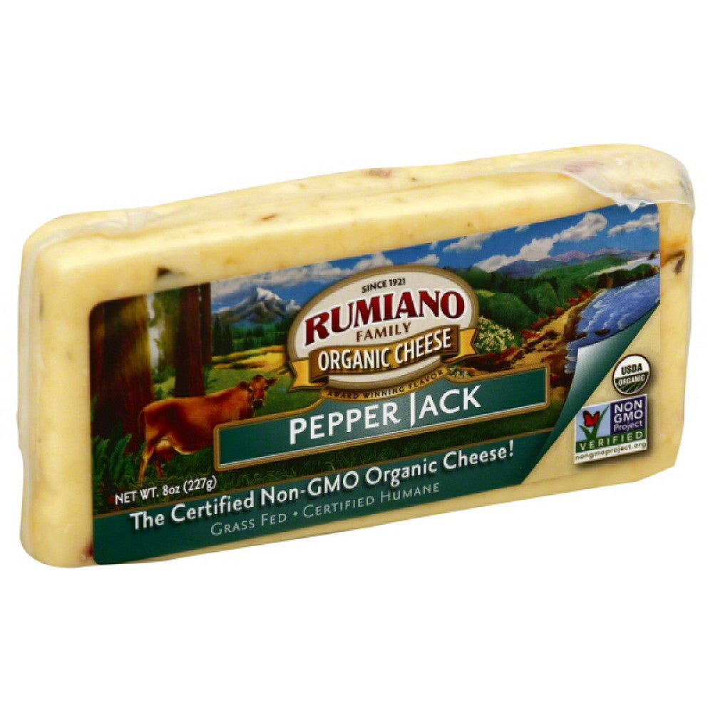 Rumiano Pepper Jack Organic Cheese, 8 Oz (Pack of 12)