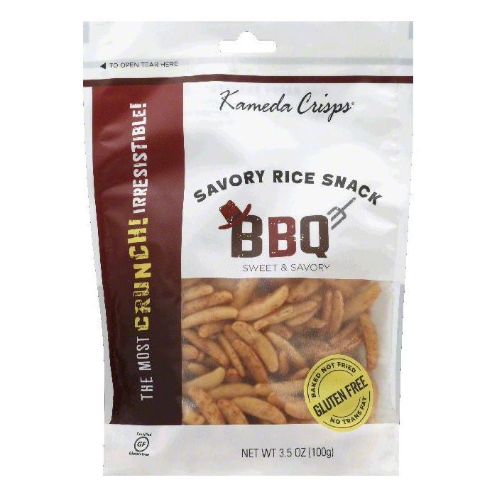 Kameda Crisps BBQ Sweet & Savory Savory Rice Snack, 3.5 OZ (Pack of 12)