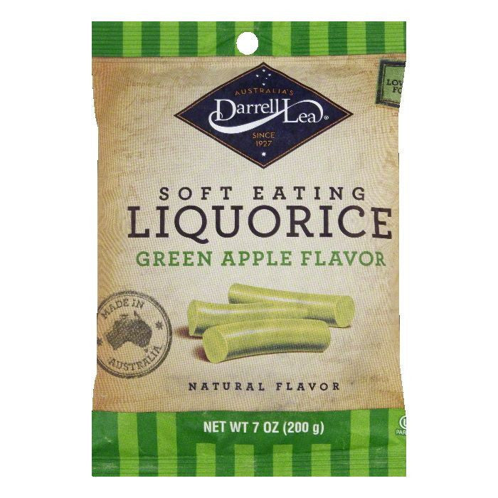 Darrell Lea Licorice Original Green Apple, 7 OZ (Pack of 8)