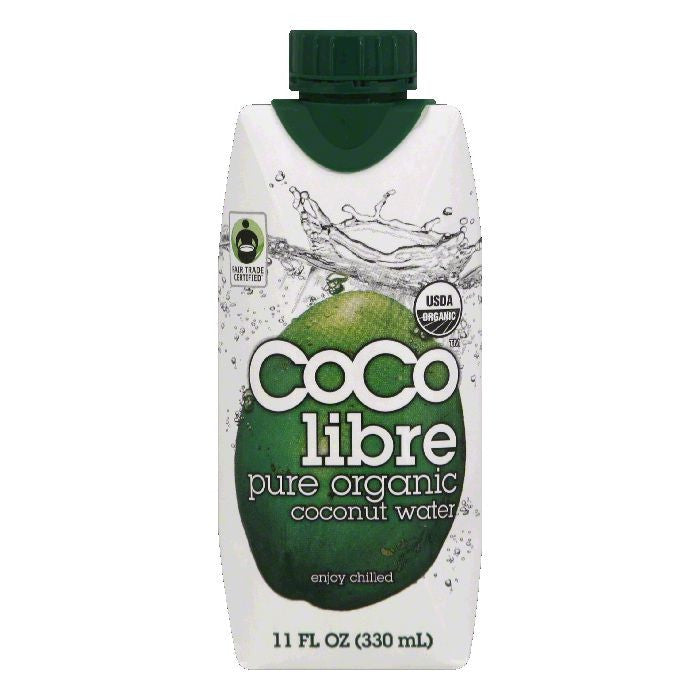 Coco Libre Pure Organic Coconut Water, 11 Oz (Pack of 12)