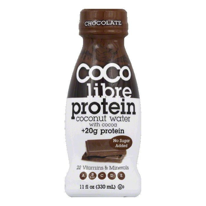 Coco Libre Chocolate Protein Coconut Water, 11 Oz (Pack of 12)
