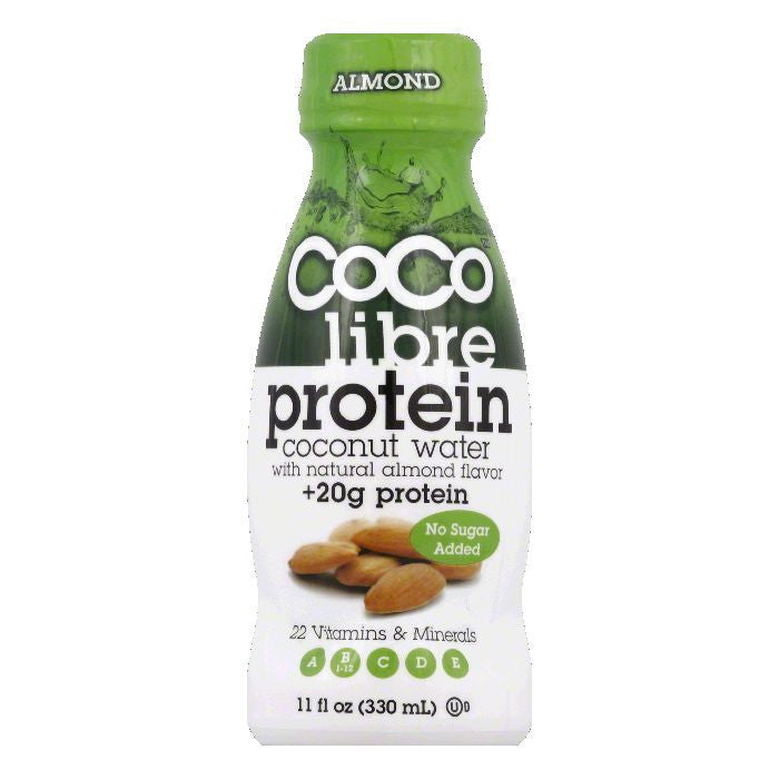 Coco Libre Almond Protein Coconut Water, 11 Oz (Pack of 12)